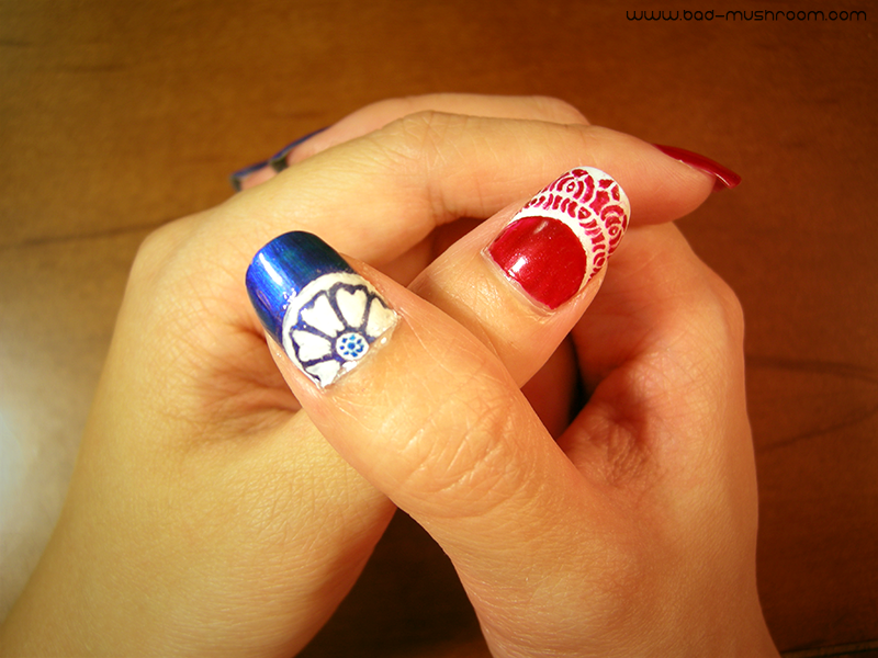White Lotus and Red Lotus nails from Avatar: The Last Airbender and The Legend of Korra